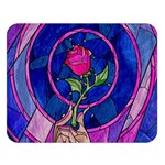Enchanted Rose Stained Glass Double Sided Flano Blanket (Large)   Blanket Back