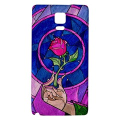 Enchanted Rose Stained Glass Galaxy Note 4 Back Case