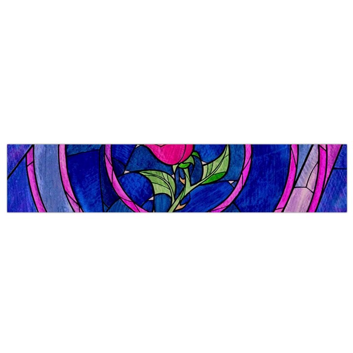 Enchanted Rose Stained Glass Flano Scarf (Small)