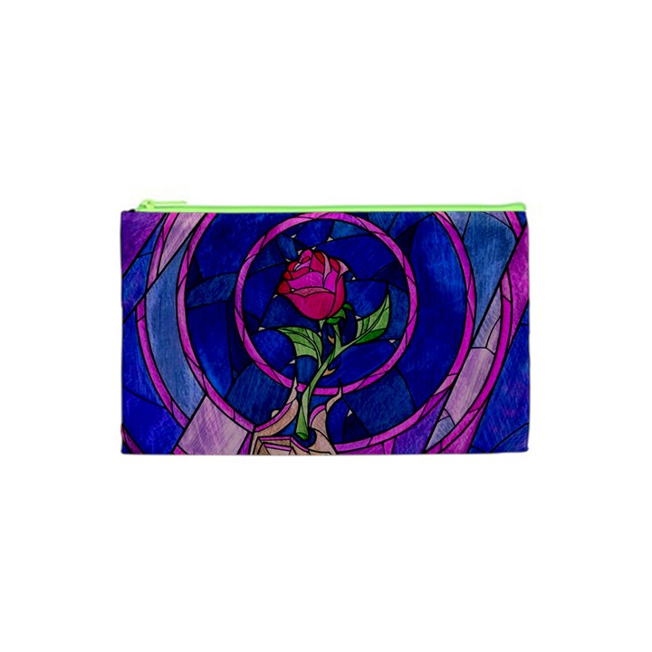 Enchanted Rose Stained Glass Cosmetic Bag (XS)