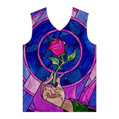 Enchanted Rose Stained Glass Men s Basketball Tank Top