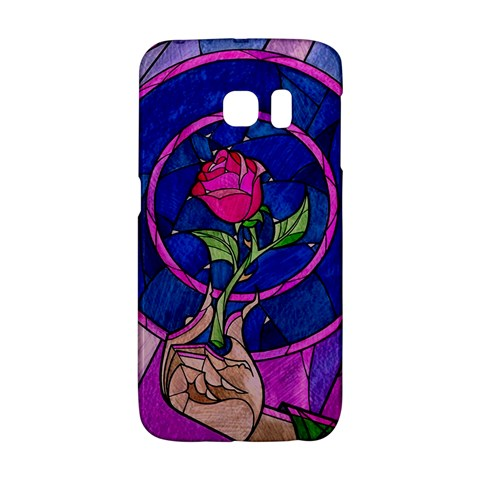 Enchanted Rose Stained Glass Galaxy S6 Edge