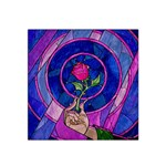 Enchanted Rose Stained Glass Satin Bandana Scarf Front