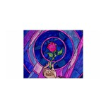 Enchanted Rose Stained Glass Satin Wrap Front