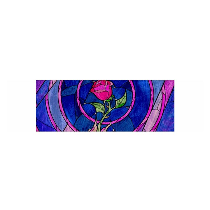 Enchanted Rose Stained Glass Satin Scarf (Oblong)