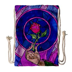 Enchanted Rose Stained Glass Drawstring Bag (large)