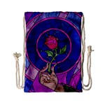 Enchanted Rose Stained Glass Drawstring Bag (Small) Back