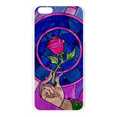 Enchanted Rose Stained Glass Apple Seamless iPhone 6 Plus/6S Plus Case (Transparent)