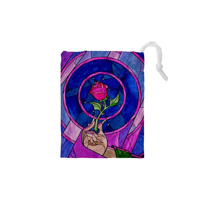 Enchanted Rose Stained Glass Drawstring Pouches (XS)