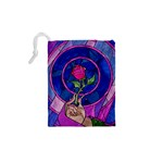 Enchanted Rose Stained Glass Drawstring Pouches (XS)  Back