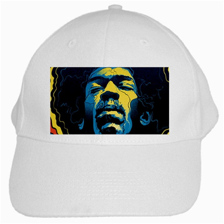 Gabz Jimi Hendrix Voodoo Child Poster Release From Dark Hall Mansion White Cap