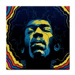 Gabz Jimi Hendrix Voodoo Child Poster Release From Dark Hall Mansion Tile Coasters Front