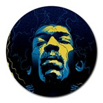 Gabz Jimi Hendrix Voodoo Child Poster Release From Dark Hall Mansion Round Mousepads Front