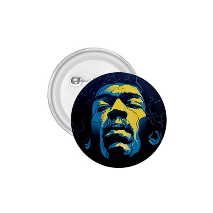 Gabz Jimi Hendrix Voodoo Child Poster Release From Dark Hall Mansion 1.75  Buttons
