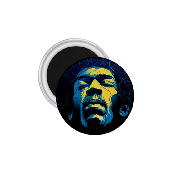 Gabz Jimi Hendrix Voodoo Child Poster Release From Dark Hall Mansion 1.75  Magnets