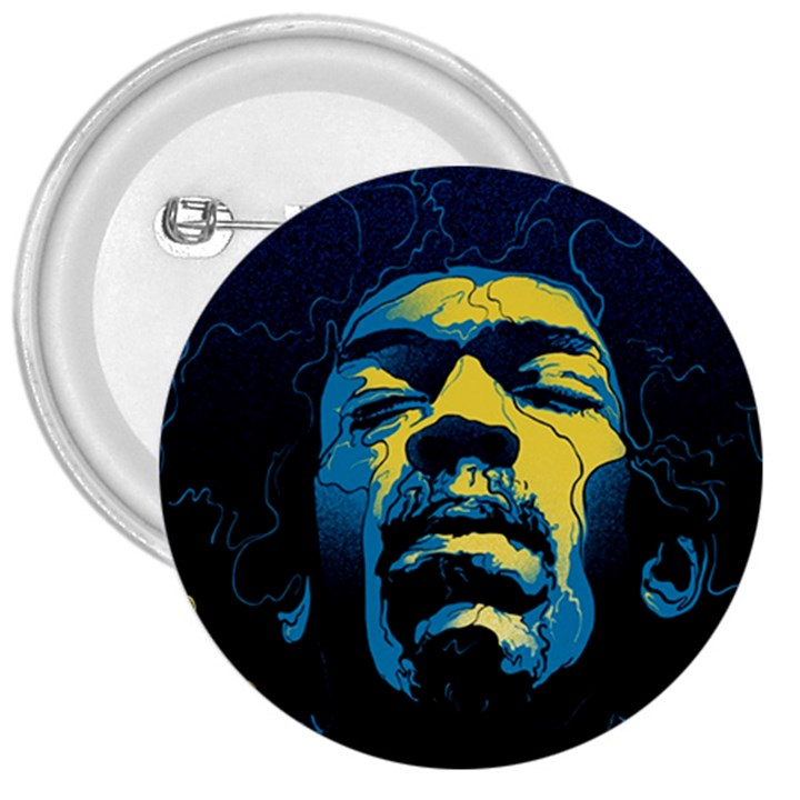Gabz Jimi Hendrix Voodoo Child Poster Release From Dark Hall Mansion 3  Buttons