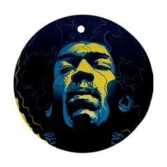 Gabz Jimi Hendrix Voodoo Child Poster Release From Dark Hall Mansion Ornament (Round)