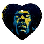 Gabz Jimi Hendrix Voodoo Child Poster Release From Dark Hall Mansion Ornament (Heart)  Front