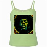 Gabz Jimi Hendrix Voodoo Child Poster Release From Dark Hall Mansion Green Spaghetti Tank Front