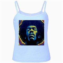 Gabz Jimi Hendrix Voodoo Child Poster Release From Dark Hall Mansion Baby Blue Spaghetti Tank