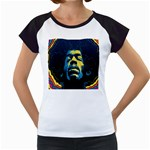 Gabz Jimi Hendrix Voodoo Child Poster Release From Dark Hall Mansion Women s Cap Sleeve T Front