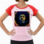 Gabz Jimi Hendrix Voodoo Child Poster Release From Dark Hall Mansion Women s Cap Sleeve T-Shirt Front
