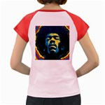 Gabz Jimi Hendrix Voodoo Child Poster Release From Dark Hall Mansion Women s Cap Sleeve T-Shirt Back