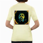 Gabz Jimi Hendrix Voodoo Child Poster Release From Dark Hall Mansion Women s Yellow T-Shirt Back