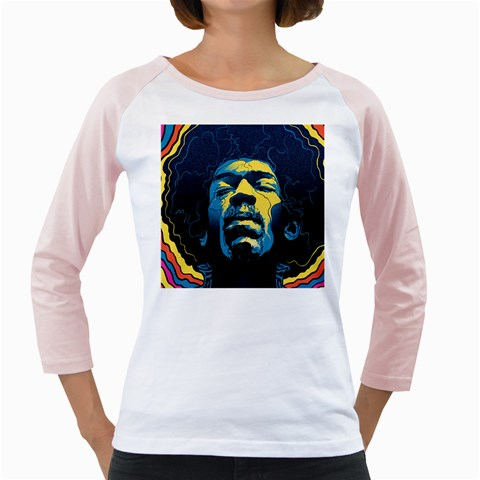 Gabz Jimi Hendrix Voodoo Child Poster Release From Dark Hall Mansion Girly Raglans