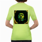 Gabz Jimi Hendrix Voodoo Child Poster Release From Dark Hall Mansion Women s Green T-Shirt Back