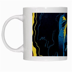Gabz Jimi Hendrix Voodoo Child Poster Release From Dark Hall Mansion White Mugs