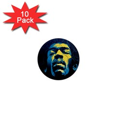 Gabz Jimi Hendrix Voodoo Child Poster Release From Dark Hall Mansion 1  Mini Magnet (10 Pack)