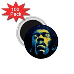 Gabz Jimi Hendrix Voodoo Child Poster Release From Dark Hall Mansion 1.75  Magnets (100 pack)  Front