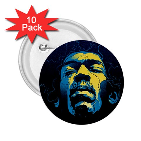 Gabz Jimi Hendrix Voodoo Child Poster Release From Dark Hall Mansion 2.25  Buttons (10 pack)