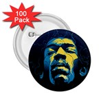 Gabz Jimi Hendrix Voodoo Child Poster Release From Dark Hall Mansion 2.25  Buttons (100 pack)  Front