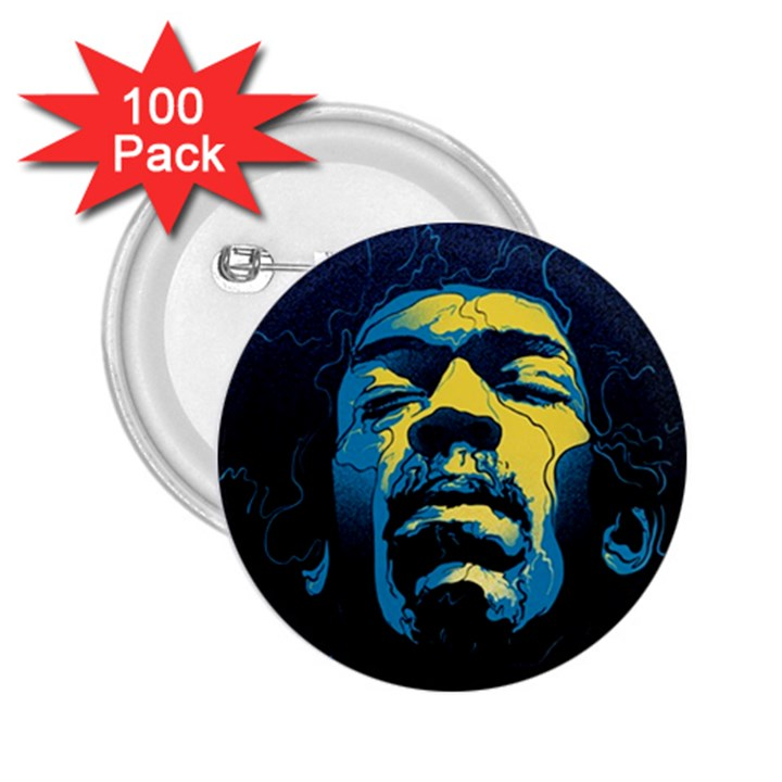 Gabz Jimi Hendrix Voodoo Child Poster Release From Dark Hall Mansion 2.25  Buttons (100 pack)