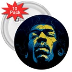 Gabz Jimi Hendrix Voodoo Child Poster Release From Dark Hall Mansion 3  Buttons (10 pack)  Front