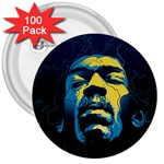 Gabz Jimi Hendrix Voodoo Child Poster Release From Dark Hall Mansion 3  Buttons (100 pack)  Front