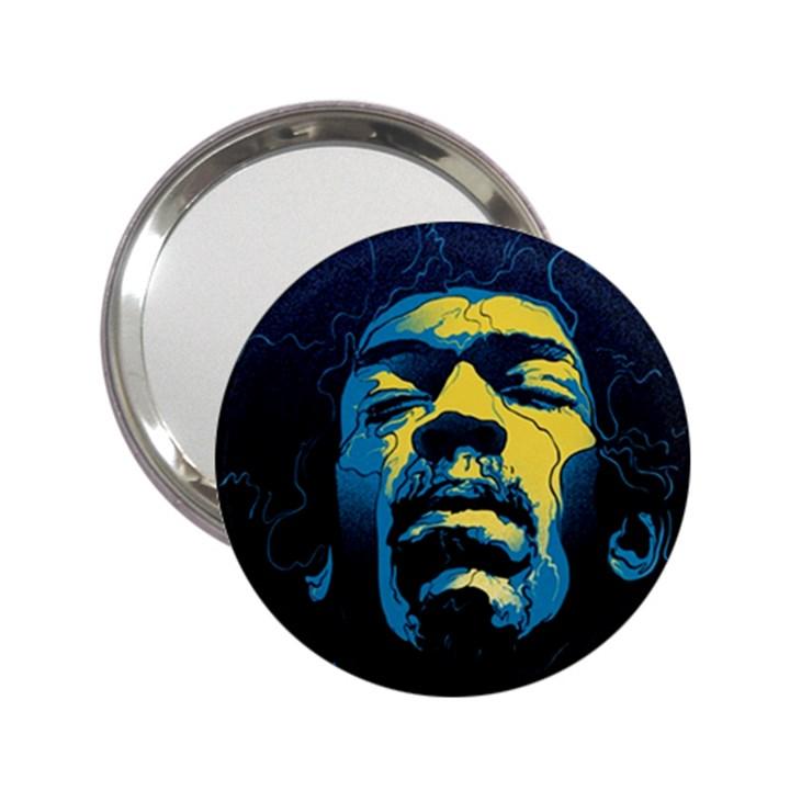 Gabz Jimi Hendrix Voodoo Child Poster Release From Dark Hall Mansion 2.25  Handbag Mirrors