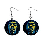 Gabz Jimi Hendrix Voodoo Child Poster Release From Dark Hall Mansion Mini Button Earrings Front