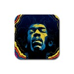 Gabz Jimi Hendrix Voodoo Child Poster Release From Dark Hall Mansion Rubber Square Coaster (4 pack)  Front