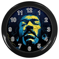 Gabz Jimi Hendrix Voodoo Child Poster Release From Dark Hall Mansion Wall Clocks (black)