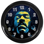 Gabz Jimi Hendrix Voodoo Child Poster Release From Dark Hall Mansion Wall Clocks (Black) Front