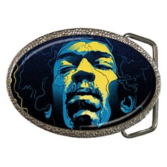 Gabz Jimi Hendrix Voodoo Child Poster Release From Dark Hall Mansion Belt Buckles