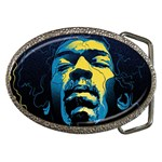 Gabz Jimi Hendrix Voodoo Child Poster Release From Dark Hall Mansion Belt Buckles Front