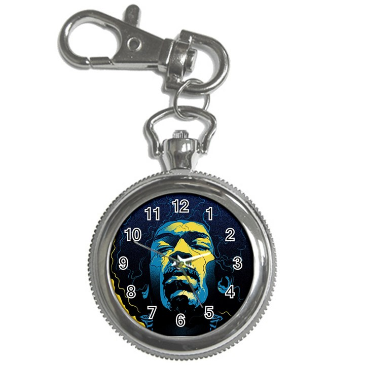 Gabz Jimi Hendrix Voodoo Child Poster Release From Dark Hall Mansion Key Chain Watches