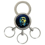 Gabz Jimi Hendrix Voodoo Child Poster Release From Dark Hall Mansion 3-Ring Key Chains Front
