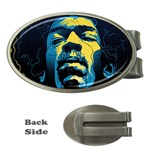 Gabz Jimi Hendrix Voodoo Child Poster Release From Dark Hall Mansion Money Clips (Oval)  Front