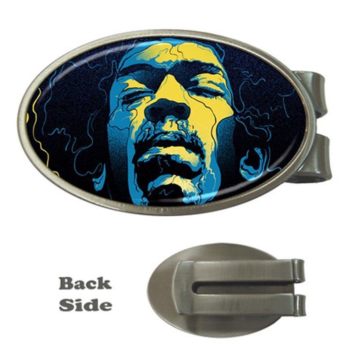 Gabz Jimi Hendrix Voodoo Child Poster Release From Dark Hall Mansion Money Clips (Oval)