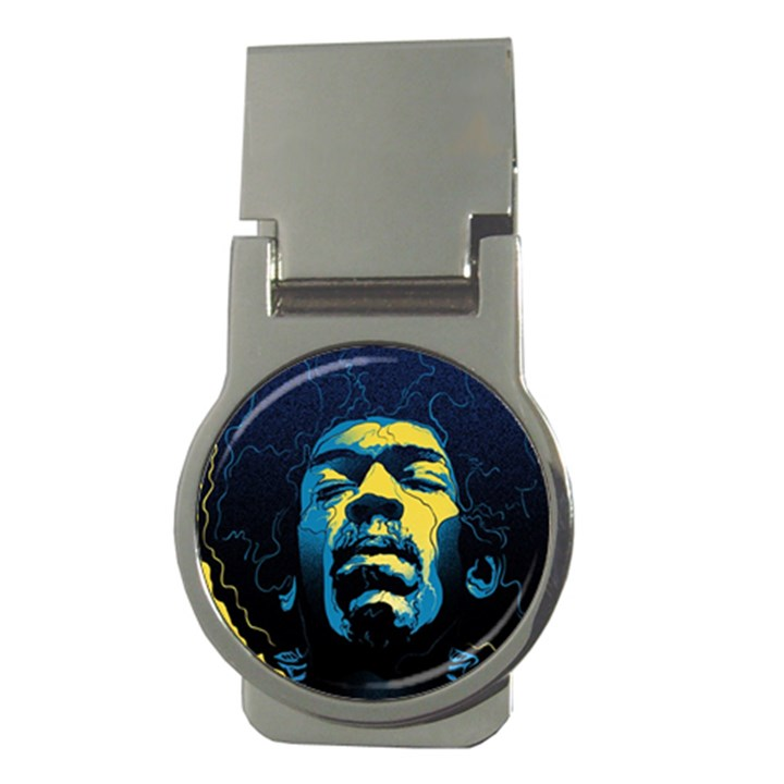Gabz Jimi Hendrix Voodoo Child Poster Release From Dark Hall Mansion Money Clips (Round)